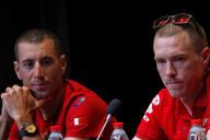 Rohan Dennis (à droite), le 5 juillet à Bruxelles.