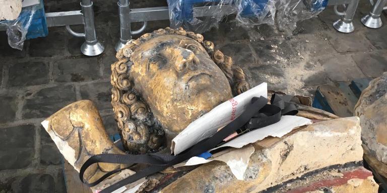 Le chantier de réfection de Notre dame de Paris,