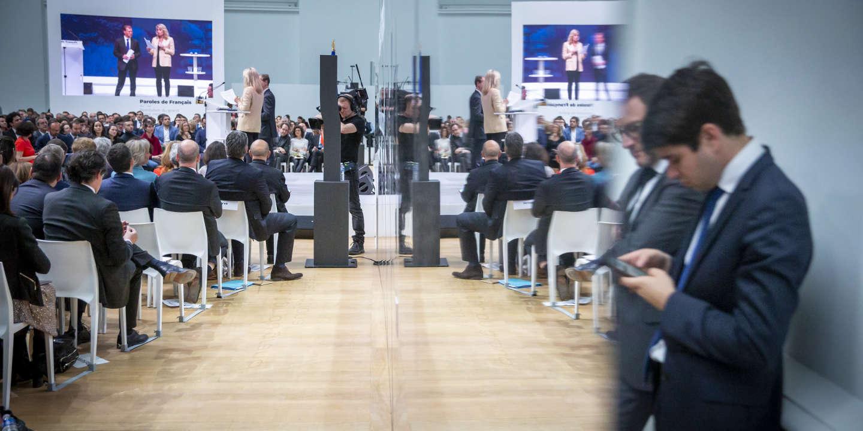 Restitution du grand débat national au Grand Palais à Paris