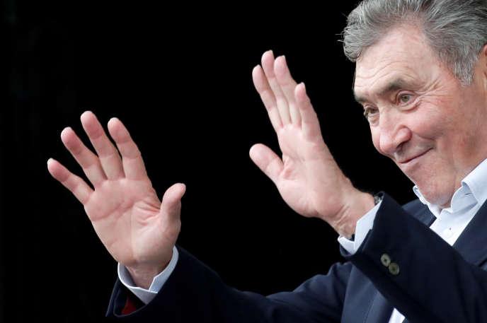 L'ancien champion cycliste belge Eddy Merckx était la vedette du départ du Tour de France à Bruxelles le 6 juillet.
