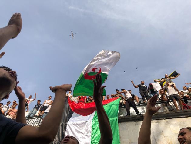 Des supporteurs du club USM El Harrach.