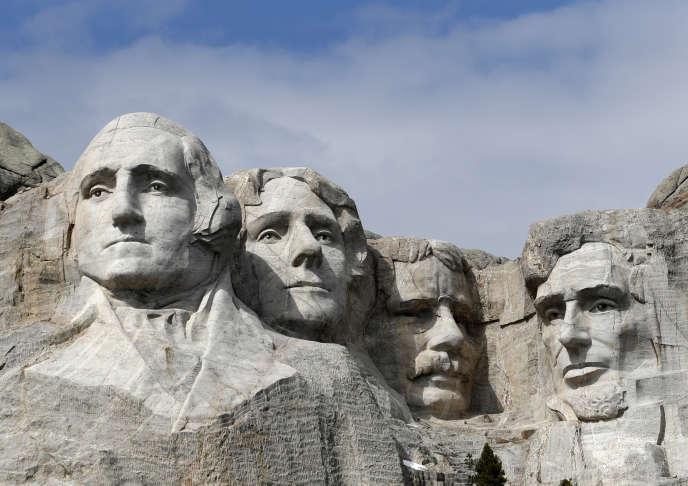 Le célèbre mont Rushmore et ses quatre présidents, symbole de l'Amérique triomphante, àKeystone, dans le Dakota du Sud.
