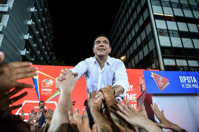 Le premier ministre grec Alexis Tsipras, vendredi 5 juillet, à Athènes.