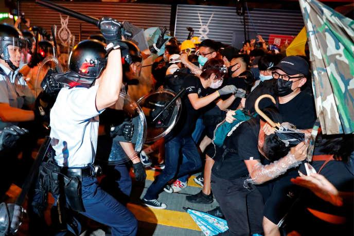 Dans le quartier de Mongkok, à Hongkong, le 7 juillet.