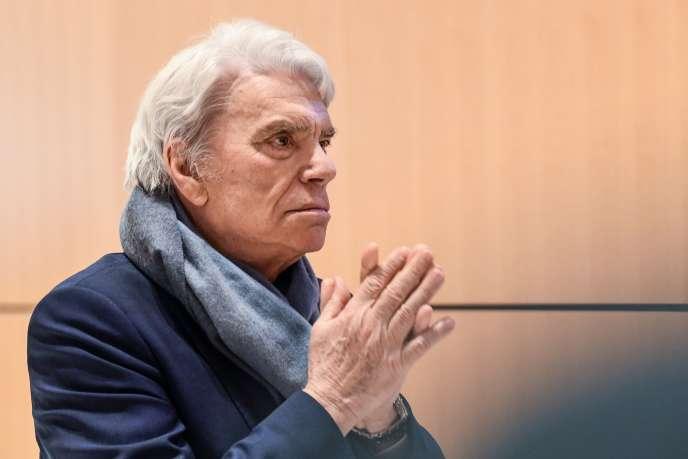 Bernard Tapie, le 4 avril au tribunal de Paris.