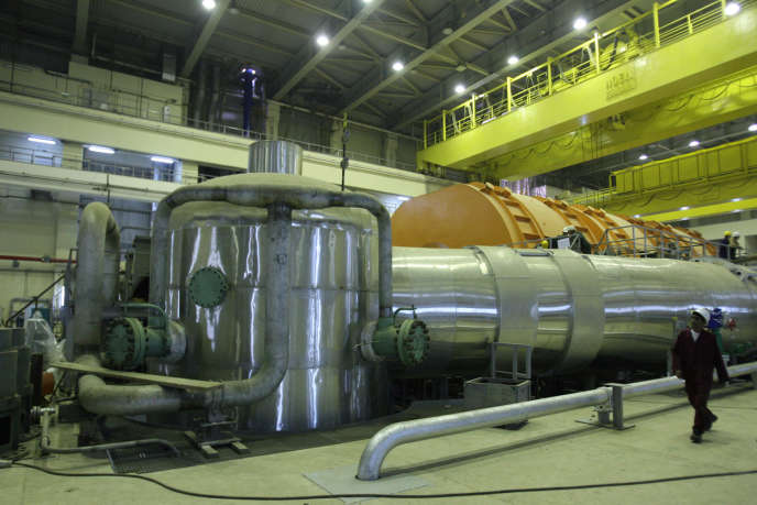 Un réacteur de la centrale nucléaire de Bouchehr, dans le sud de l'Iran, en octobre 2010.