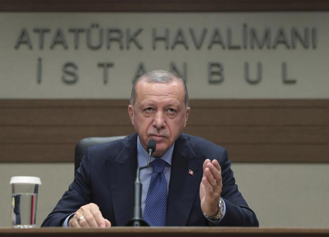 Le président turc Recep Tayyip Erdogan, le 8 juillet à Istanbul.