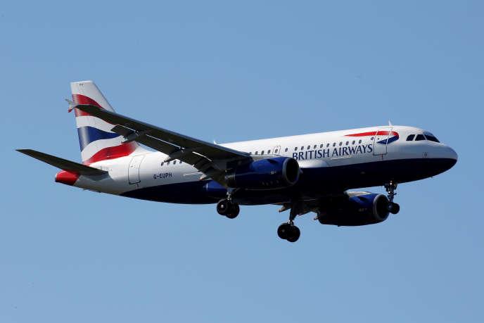 Un avion de la compagnie britanniqueBritish Airways, à Toulouse (Haute-Garonne), le 20 mars.