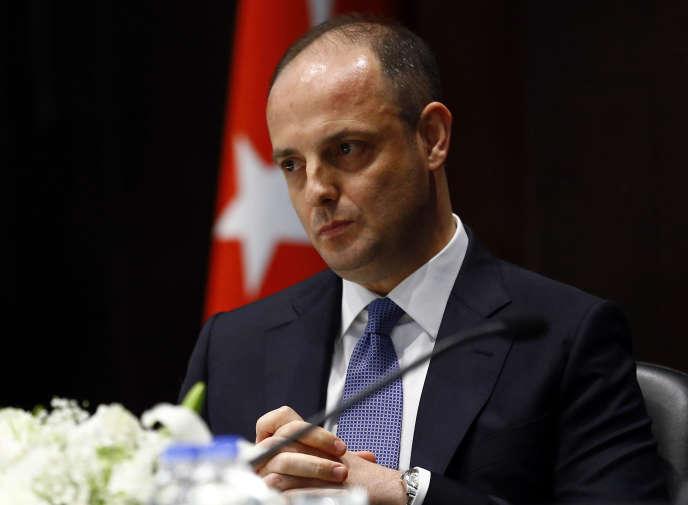 Murat Cetinkaya, à Ankara, le 19 avril 2016. Le gouverneur de la Banque centrale de Turquie (BCT) a été limogé par leprésident Recep Tayyip Erdogan, samedi 6 juillet 2019.