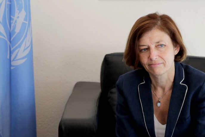 La ministre française de la défense Florence Parly à Chama, au sud du Liban, le 2 juillet 2019.