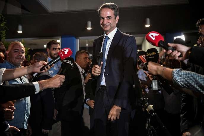 Le futur premier ministre grec, Kyriakos Mitsotakis à Athènes le 7 juillet 2019.