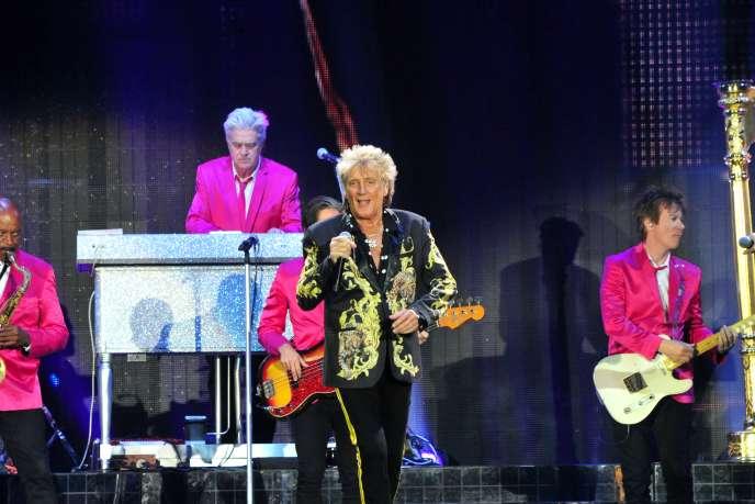Rod Steward à l'Accor Hotel Arena Bercy, le 6 juillet.