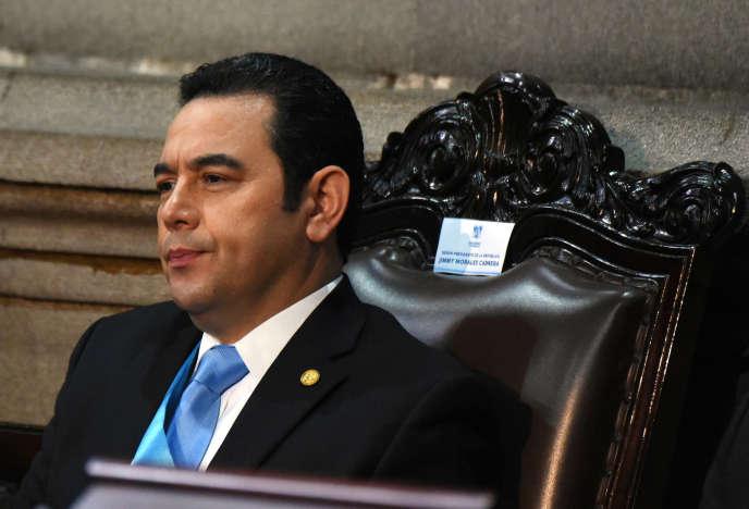 Jimmy Morales au Congrès, à Guatemala City, le 14 janvier.