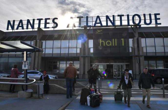 L'aéroport Nantes-Atlantique, le 27 janvier 2018, à Bouguenais, une semaine après la décision du gouvernement d'abandonner le projet de Notre-Dame-des-Landes.
