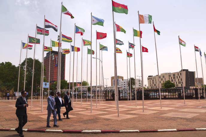 Palais des congrès de Niamey, où a eu lieu le dernier sommet de l'Union africane, début juillet, au Niger.