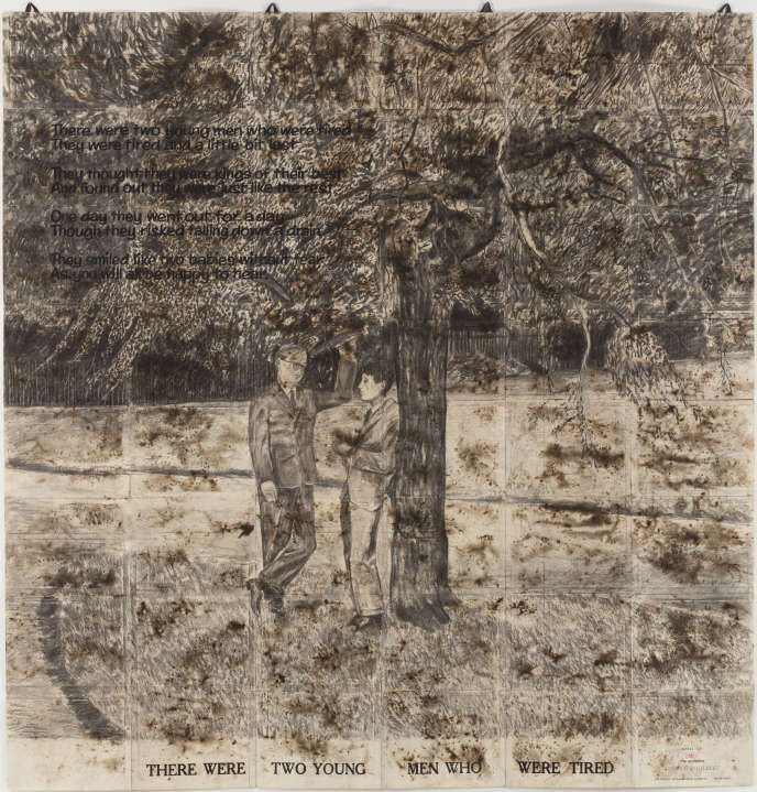 « There were two young men » (1971), deGilbert & George.