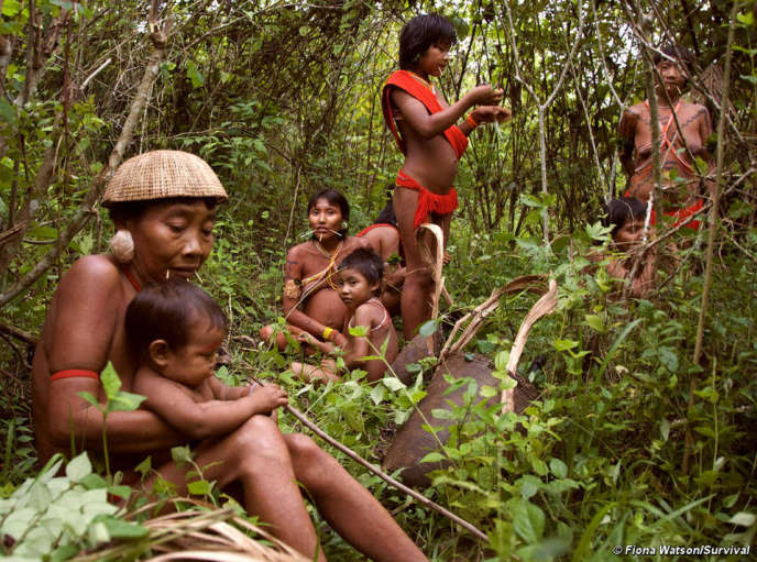 Yanomami Indians photographed in 2010.
