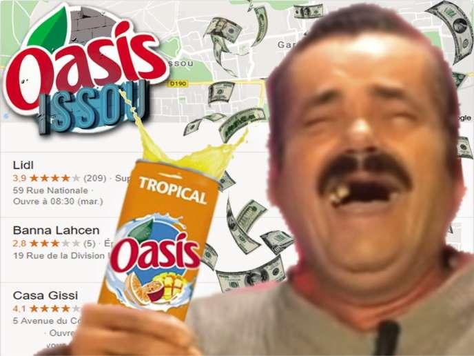 Un photomontage d'un internaute avec l'humoriste « El Risitas ».