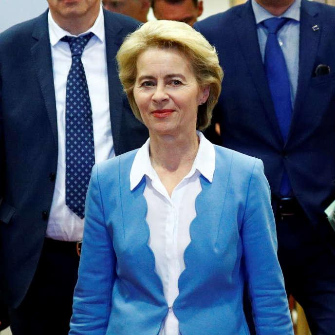 « L'expérience politique d'Ursula von der Leyen en dit peu quant à sa capacité à affronter les défis du moment, de l'immigration au réchauffement climatique, en passant par le Brexit. » Photo : Ursula von der Leyen, à Bruxelles, le 10 juillet 2019.