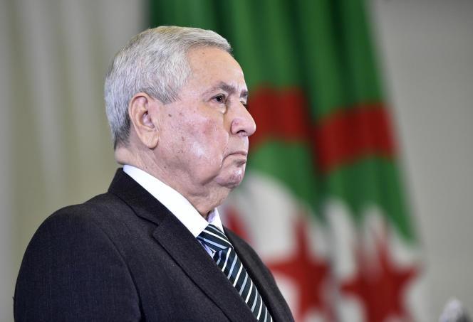 Abdelkader Bensalah, ancien président du Sénat, assure l'intérim du pouvoir algérien depuis la chute du président Abdelaziz Bouteflika,le 2 avril 2019.