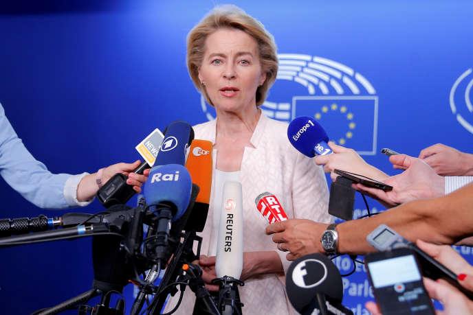 Ursula von der Leyen, le 3 juillet à Strasbourg.
