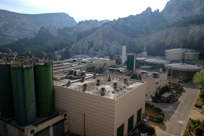 Une unité de production de biométhane, à Sormiou, près de Marseille.