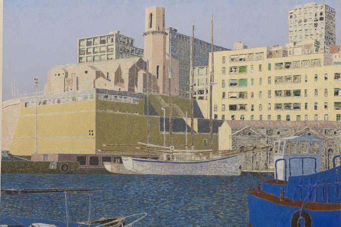 Vincent Bioulès, «La Tourette I», février 1994-janvier 1995, huile sur toile, 130 x 162 cm.