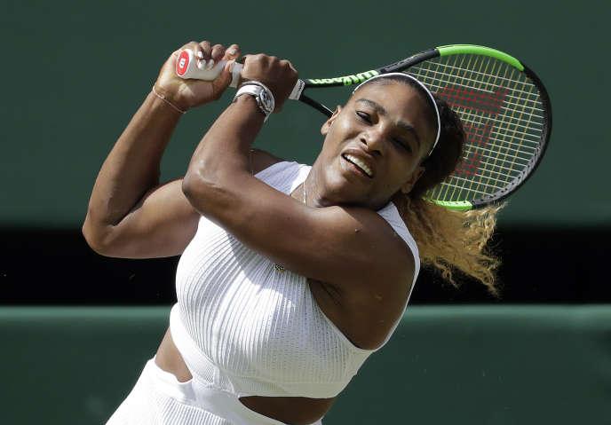 L'Américaine Serena Williams n'a laissé aucune chance à la Tchèque Barbora Strycova, en demi-finales de Wimbledon, jeudi 11 juillet.
