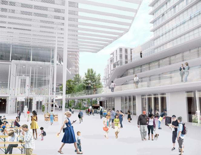 Projet Montparnasse de l'équipe de l'architecte Richard Rogers.
