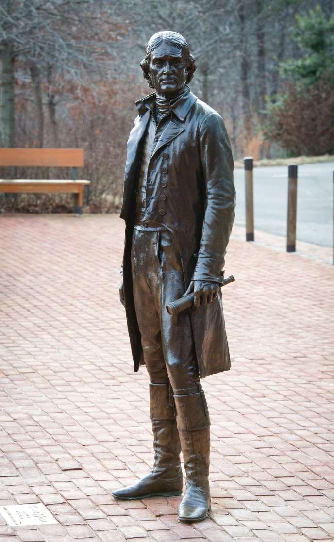 Une statue de Thomas Jefferson à Charlottesville (Virginie), dont était originaire l'ancien président et père fondateur américain, en 2014.