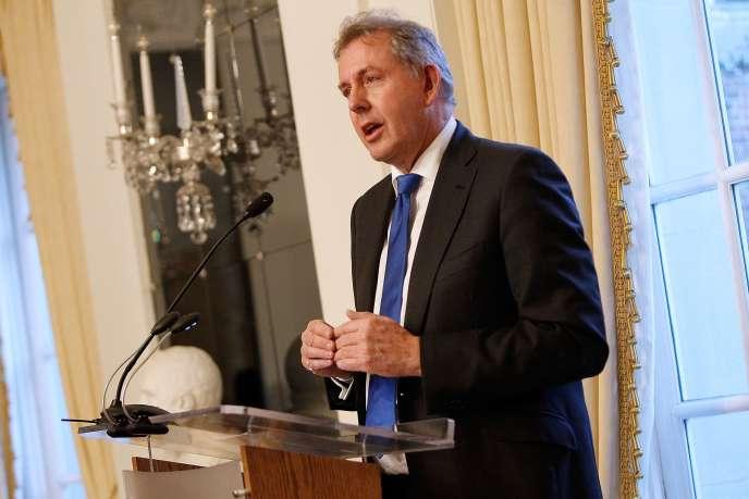 Kim Darroch, à l'ambassade du Royaume-Uni à Washington, le 18 janvier 2017.
