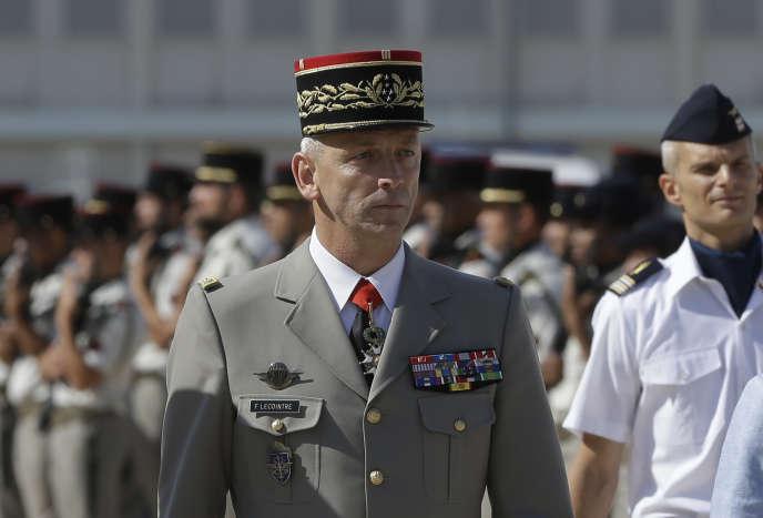Le chef d'état-major des armées, François Lecointre, le 20 juillet 2017 à Istres, dans le sud de la France.