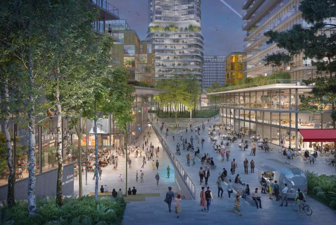 Projet de quartier pilote«bas carbone» Maine-Montparnasse, à Paris.