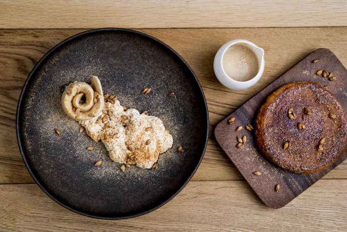 La galette au houblon, orge caramélisée, bière glacée de Jessica Préalpato