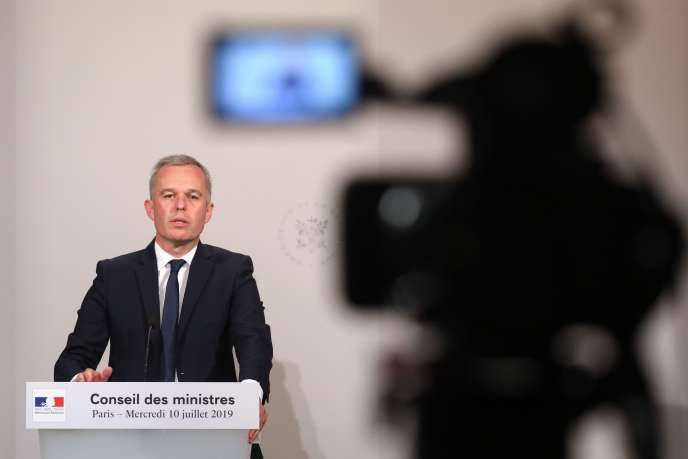 François de Rugy, à l'issue du conseil des ministres, le 10juillet.
