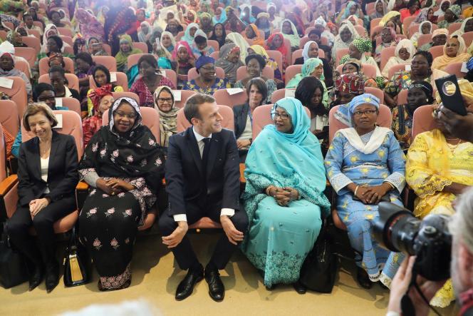 Le président françaisà N'Djamena, au Tchad le 23 décembre 2018.