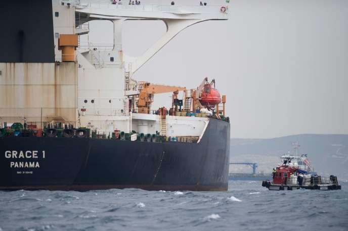 Le pétrolier iranien «Grace One», au large de Gibraltar, le 6 juillet.