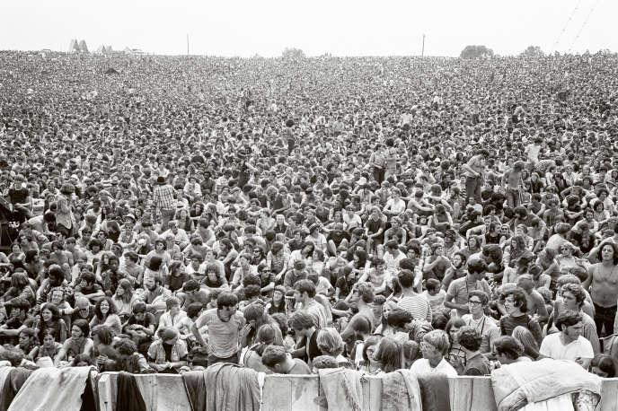 Au festival de Woodstock, en août 1969, à Bethel (Etat de New York).
