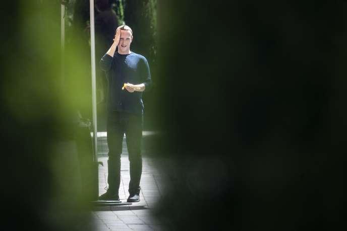 Le PDG de Facebook, Mark Zuckerberg, le 12 juillet.