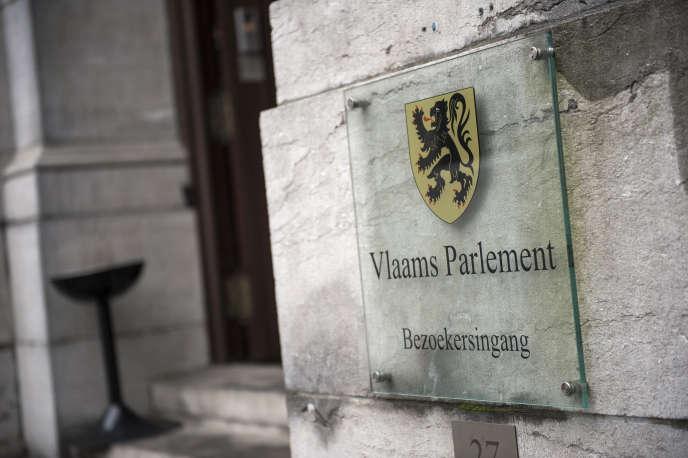 L'entrée du Parlement flamand, à Bruxelles.