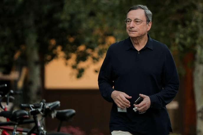Mario Draghi, président de la BCE, le 12 juillet 2019, à Sun Valley dans l'Idaho.