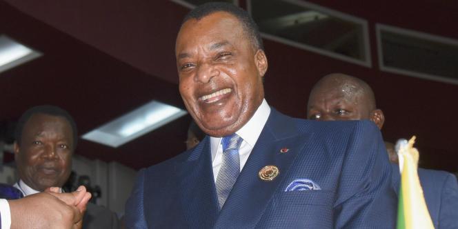 Le président de la République du Congo, Denis Sassou-Nguesso à Kinshasa, le 7 juillet 2019.