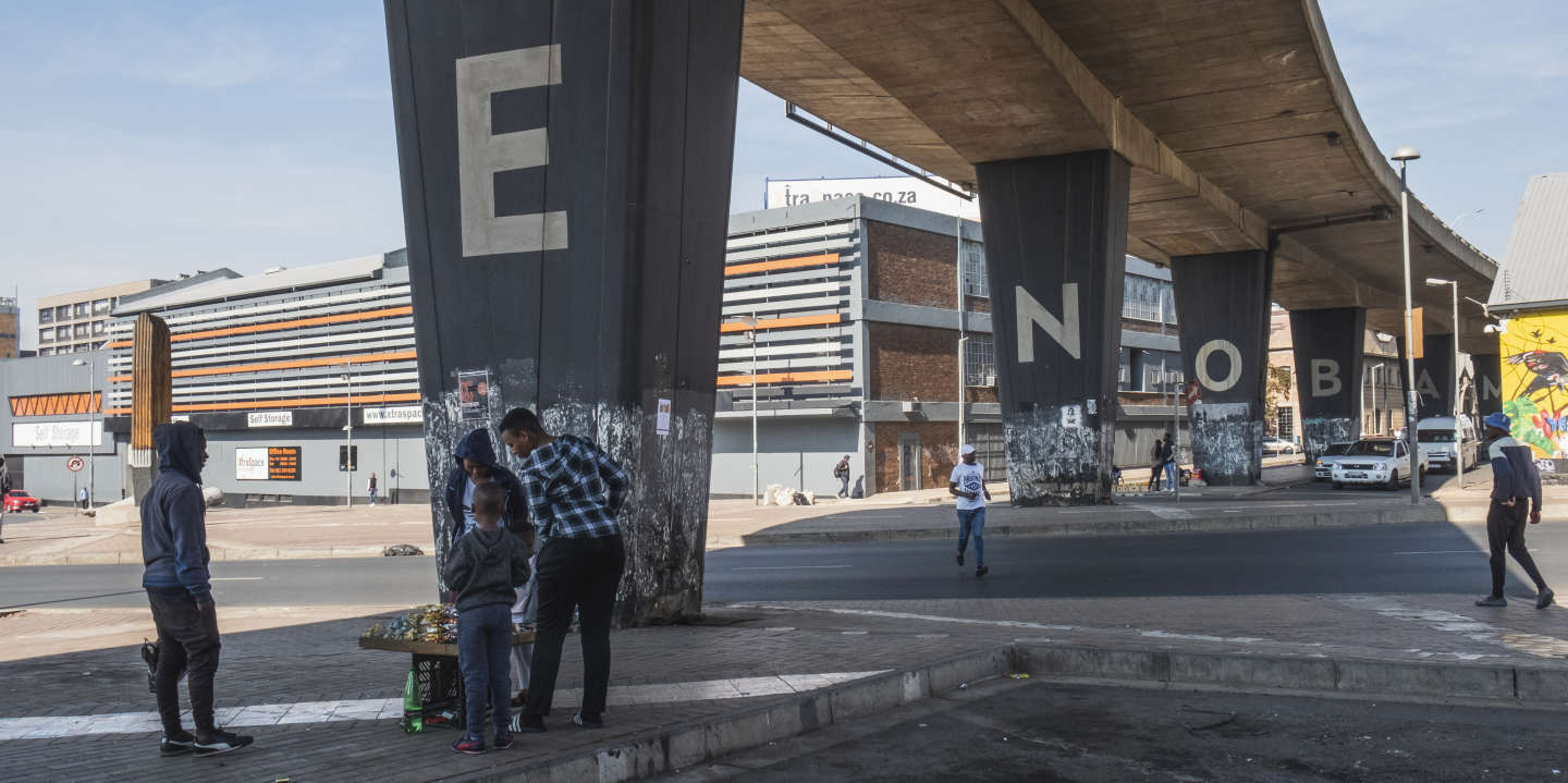 South Africa Johannesburg, This bridge is found in Fox street writen in big letter Maboneng. June, 2019.