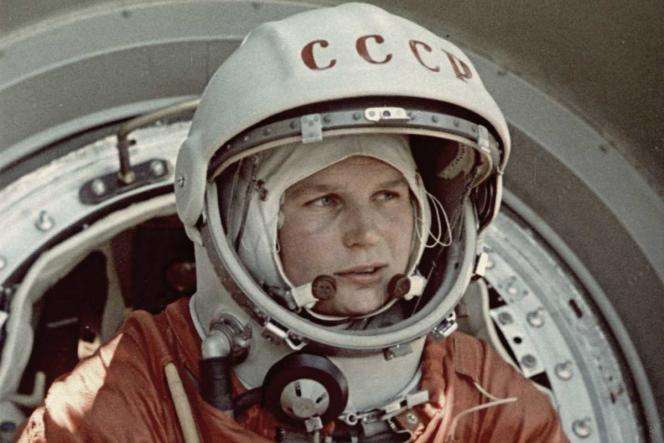 Valentina Terechkova, la première femme envoyée dans l'espace, en juin 1963.