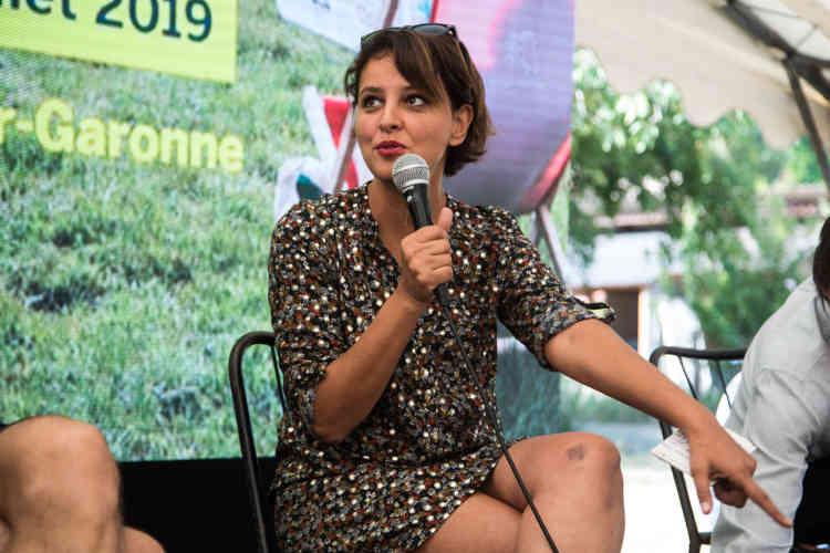 """Najat Vallaud-Belkacem, ancienne ministre de l'éducation, lors de la conférence """"déjouer les déterminismes"""", samedi 13 juillet."""