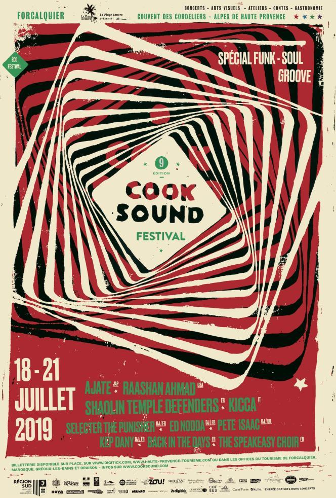 La thématique de l'édition 2019 du Cooksound Festival, àForcalquier, dans les Alpes de Haute-Provence, est un « special funk, groove, et soul».