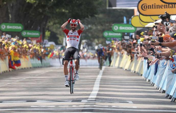 Thomas De Gendt, à l'arrivée de la 8e étape du Tour de France à Saint-Etienne.
