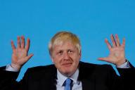 Boris Johnson en campagne à Colchester (Grande-Bretagne), le 13 juillet 2019.