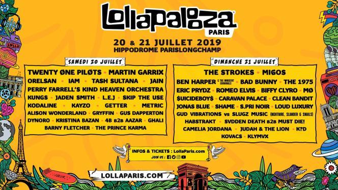 La version parisienne du festival américain Lollapalooza propose à l'Hippodrome de Longchamp des noms réputés de la scène musicale.