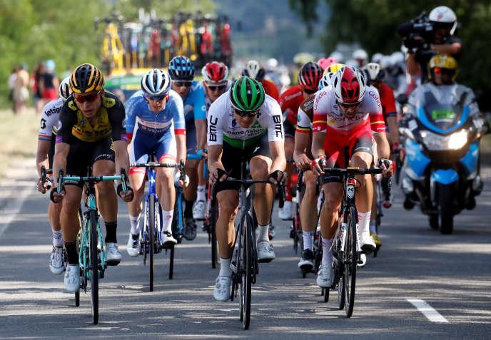 Cofidis, Total Direct Energie, AG2R-La Mondiale et Arkea-Samsic : quatre des cinq équipes étaient représentées dans la bonne échappée de cette neuvième étape du Tour.